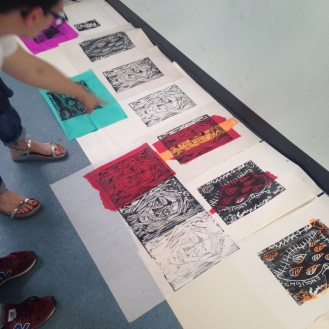 Printmaking workshop at Studio 3 Arts residency. © 2015