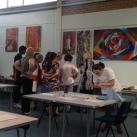 Printmaking workshop at Studio 3 Arts, 2015