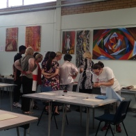 Printmaking workshop at Studio 3 Arts, 2015