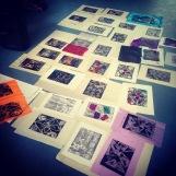 Mental Spaghetti printmaking workshop