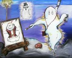 The Ghost Who Paints Himself in his Past, ©Jasmine Surreal