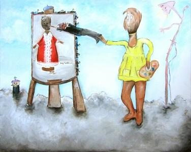 Paintbrush Painting with an Artist, ©Jasmine Surreal
