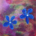 Doolin Flower Painting No. 3 - Zen Of The Boreen