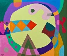 Clockwork John Jennings 2014 Acrylic on canvas. 60 X 50cms