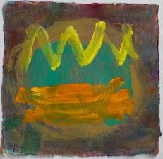Orange ©John Jennings 2016 Acrylic on paper 20 X 20cm. (8 X 8in)