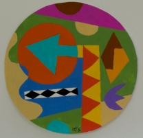 Untitled ©John Jennings 2016 Gouache on paper. 17cm diameter. (6.6in diameter).
