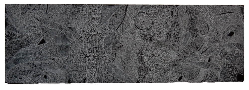 Chris Neate, Consciousness of Space, Ink on board, 45x15cm