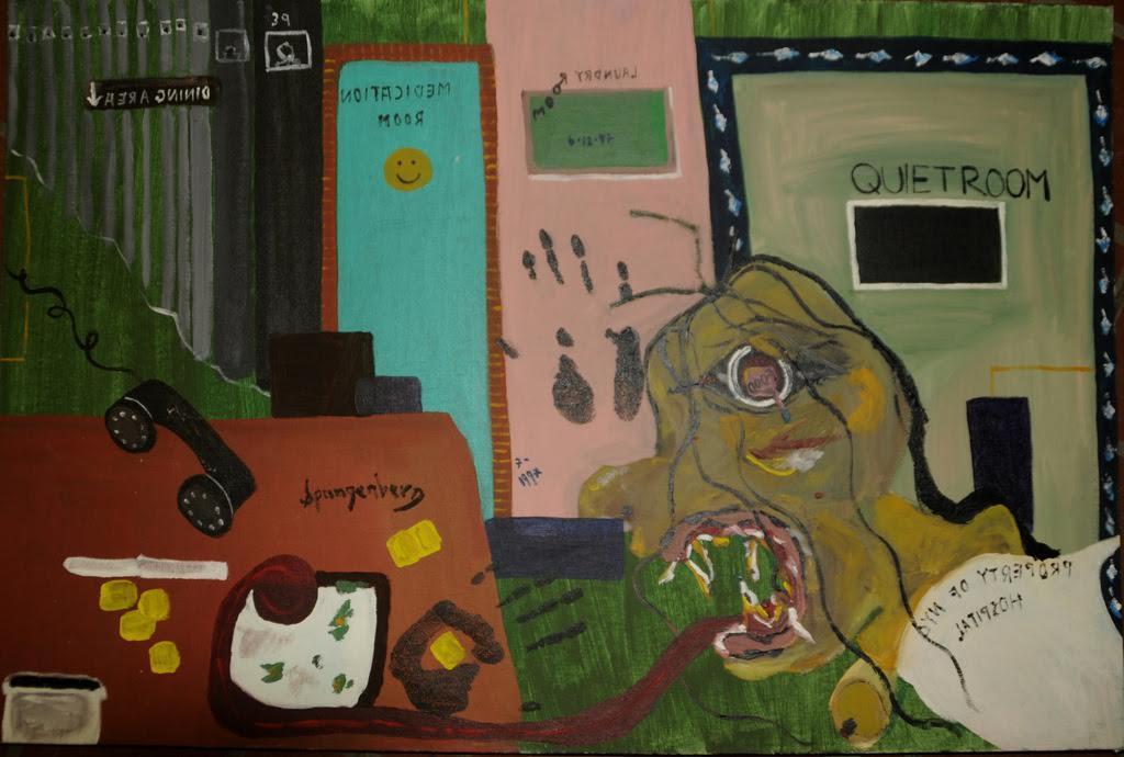 My Worst Nightmare 24_ x 36_ acrylic on canvas board 1997 Spangenberg